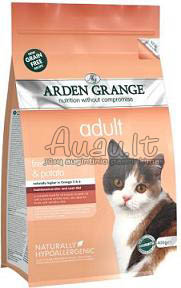 Arden Grange Adult Cat with Fresh Salmon and Potato Grain Free su šviežia lašiša ir bulvėmis (begrūdis) 2 kg.