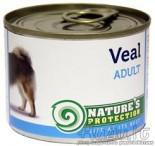 Nature's Protection Adult Veal šunų konservai su veršiena 200 g
