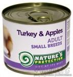 Nature's Protection Small Breeds Turkey & Apples mažų veislių šunų konservai su kalakutiena ir obuoliais 200 g