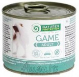Nature's Protection Dog Adult Game suaugusių šunų konservai su žvėriena 200 g